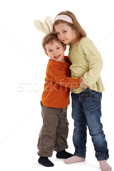 Cute kids hugging Stock photo © nyul