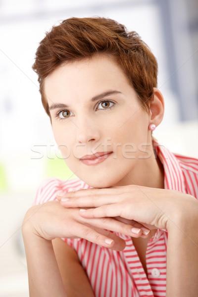 Vrouw portret poseren Stockfoto © nyul