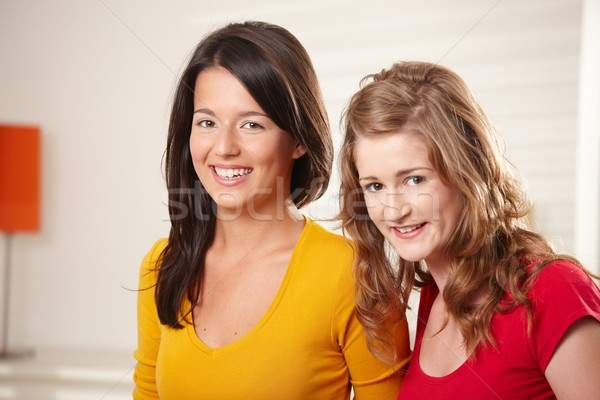 Adolescente meninas sorridente juntos retrato feliz Foto stock © nyul