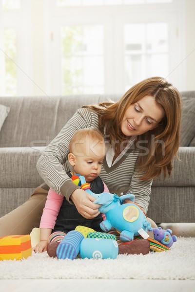 Mum playing with baby daugther Stock photo © nyul