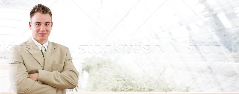 Business banner - young businessman Stock photo © nyul