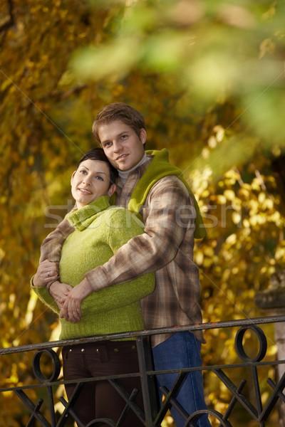 Happy couple embracing in park Stock photo © nyul