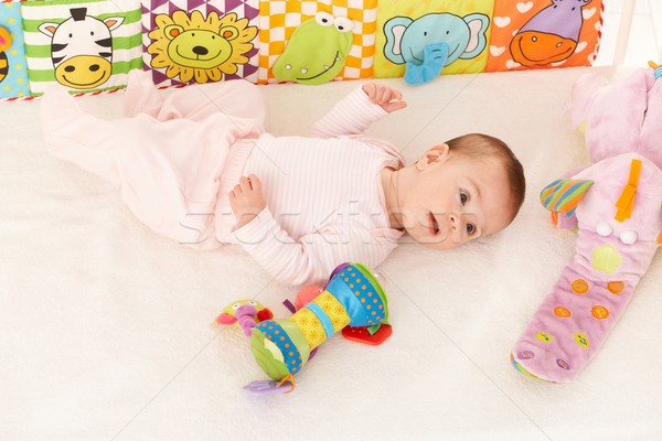 Infant with baby toys Stock photo © nyul