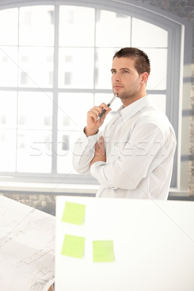 Handsome engineer working in office Stock photo © nyul