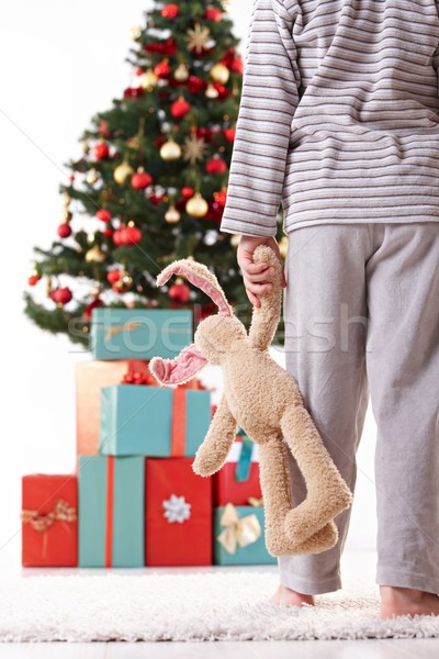 Little boy in pyjama on christmas morning Stock photo © nyul