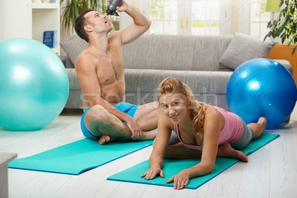 Training at home Stock photo © nyul