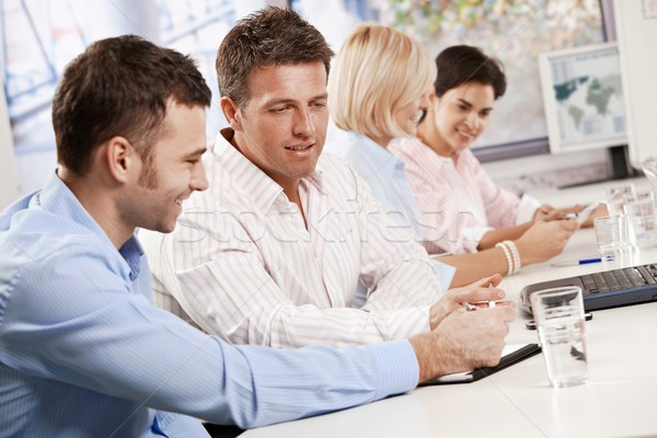 Business people talking in meeting Stock photo © nyul