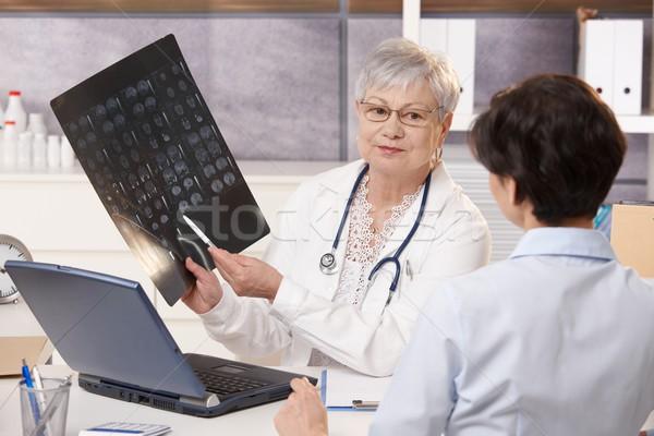 врач Xray пациент старший Сток-фото © nyul