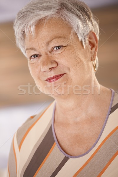 Portrait of elderly woman Stock photo © nyul