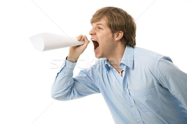 Young man shouting Stock photo © nyul