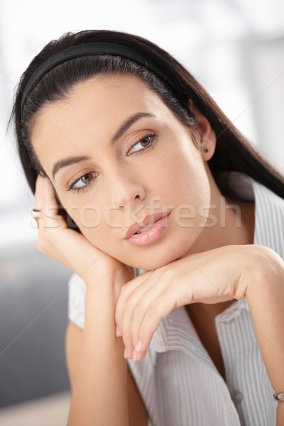 Portrait of woman daydreaming Stock photo © nyul