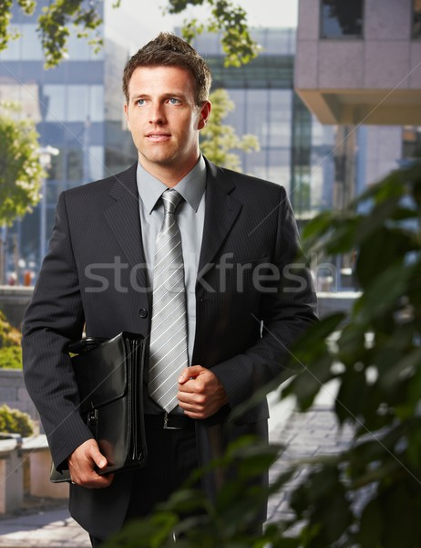 Executive going to work with briefcase Stock photo © nyul