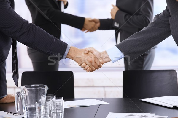 Businesspeople shaking hands Stock photo © nyul
