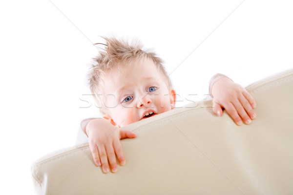 Baby boy playing peek a boo Stock photo © nyul