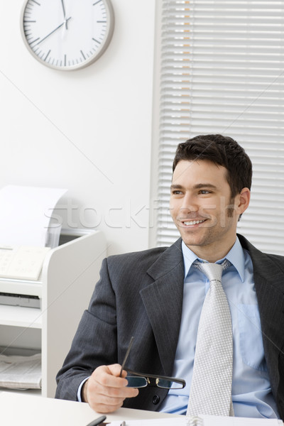 счастливым бизнесмен сидят за Сток-фото © nyul