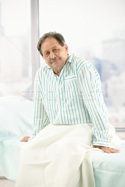 古い 男性 患者 病院 肖像 座って ストックフォト © nyul