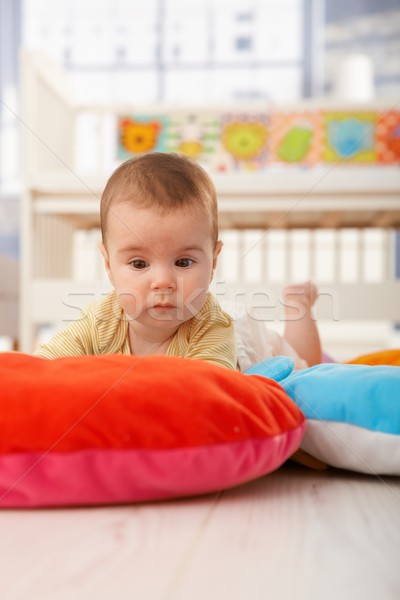 Sleepy baby on playmat Stock photo © nyul