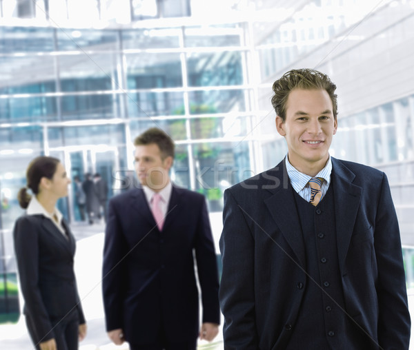 Stock photo: Businessman leaving office