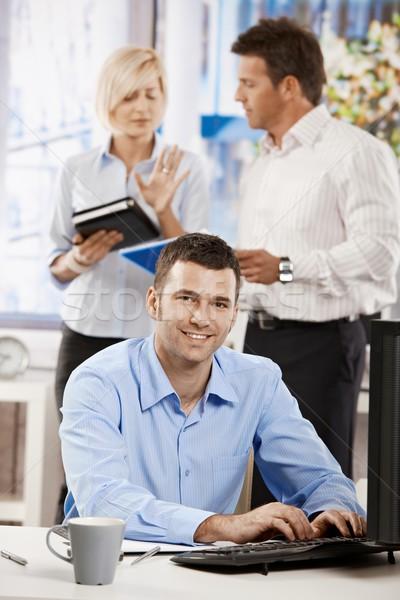 Сток-фото: служба · жизни · бизнесмен · рабочих · столе · случайный