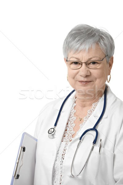 Portrait of senior general practitioner Stock photo © nyul