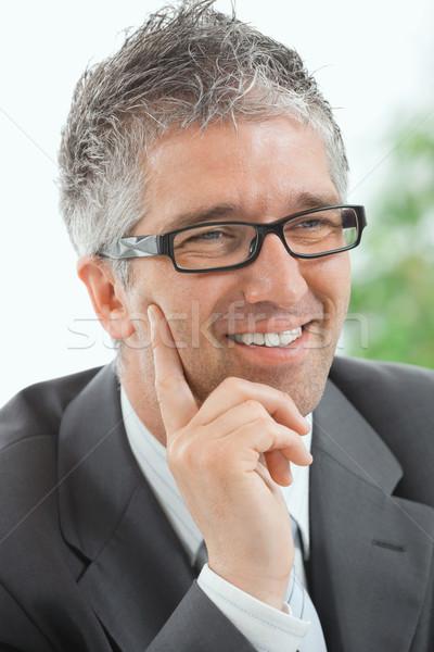 Stock photo: Businessman thinking
