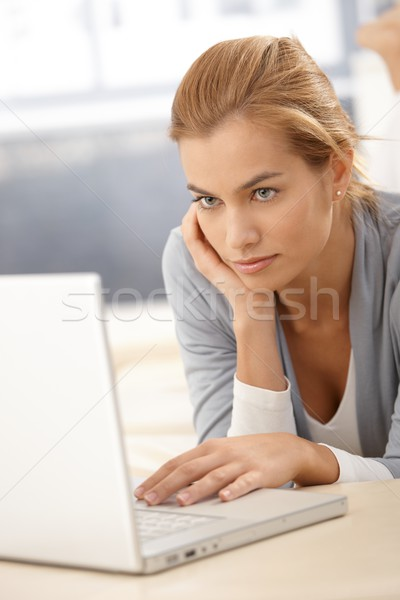 Young woman browsing Internet Stock photo © nyul