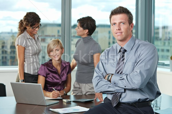 Businessman with team Stock photo © nyul