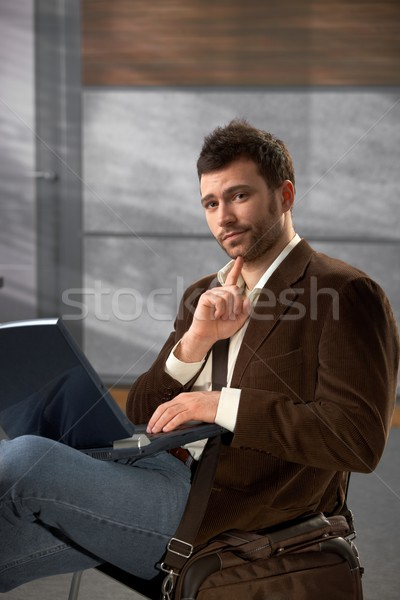 Portrait of man with laptop Stock photo © nyul