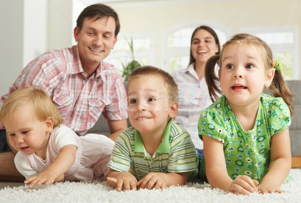 Happy children with parents  Stock photo © nyul