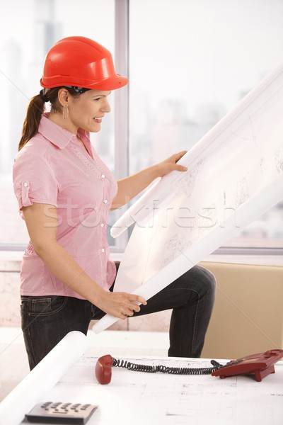 Architect looking working in office Stock photo © nyul
