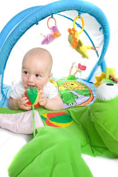 Baby gymnasium geïsoleerd gelukkig spelen speelgoed Stockfoto © nyul