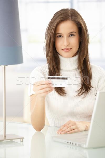 Pretty woman online shopping Stock photo © nyul