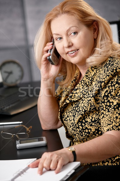 Stock photo: Senior businesswoman on phone
