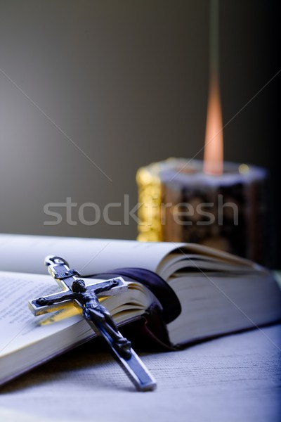 Cross and Prayer-book Stock photo © nyul