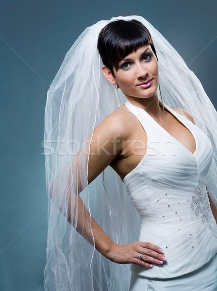Bride in wedding veil Stock photo © nyul