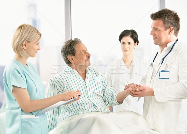 医師 話し 古い 患者 病院 医療 ストックフォト © nyul