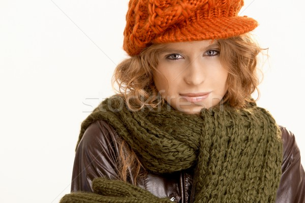 Attractive young woman dressed up for winter Stock photo © nyul