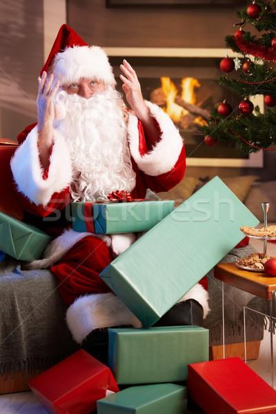 Santa looking lost having too much work Stock photo © nyul