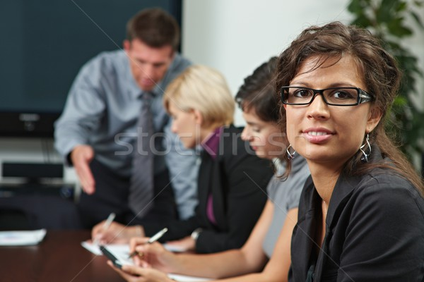Stock photo: People on business training