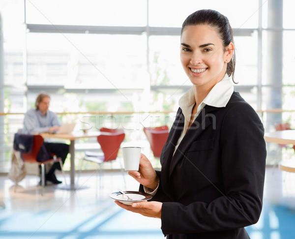 счастливым молодые деловая женщина Постоянный корпоративного Сток-фото © nyul