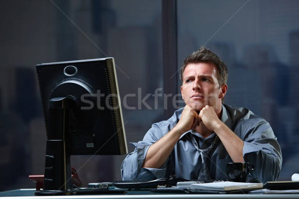 Determined businessman concentrating Stock photo © nyul