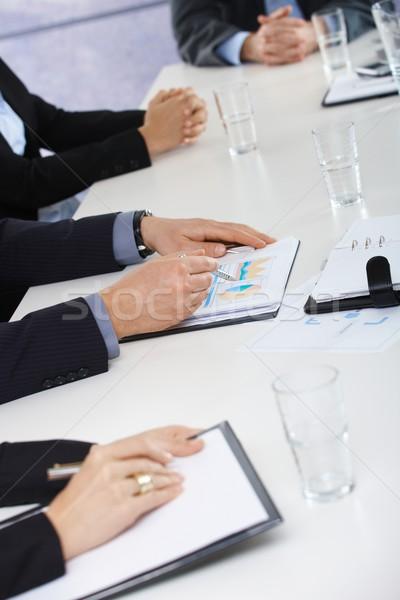 Hände Geschäftstreffen Büro Sitzung Arbeit Stock foto © nyul