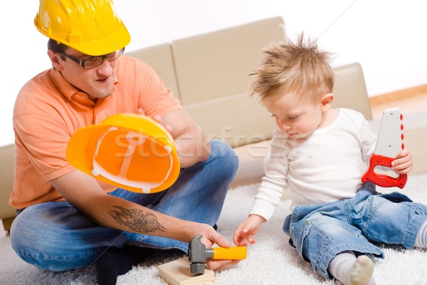 Father and kid playing Stock photo © nyul