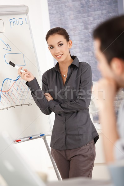 Attractive businesswoman presenting in office Stock photo © nyul