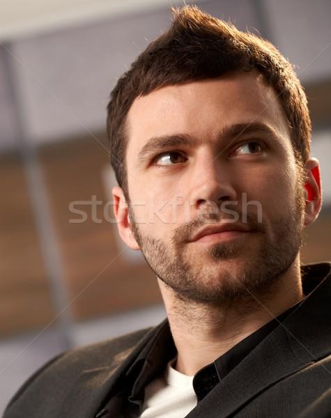 Portrait homme jeunes mode couleur Photo stock © nyul