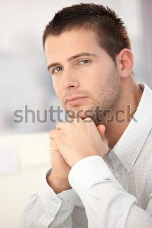 Stock photo: Portrait of handsome businessman
