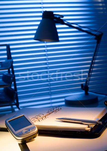 Típico escritorio oficina papel teléfono Foto stock © nyul