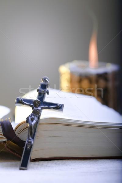 Cross and Holy Bible Stock photo © nyul