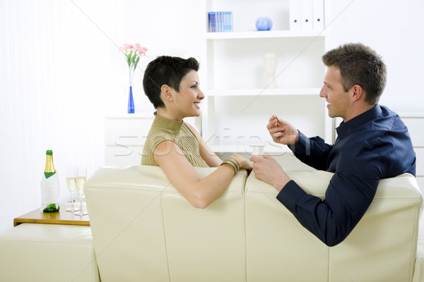 Liebe Paar Engagement Mann Verlobungsring Frau Stock foto © nyul