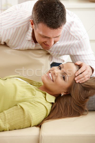 Happy couple at home Stock photo © nyul
